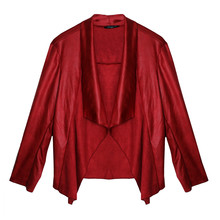 SophieB Red Open Drape Jacket