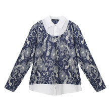 Twist Denim Floral 2 in 1 Blouse