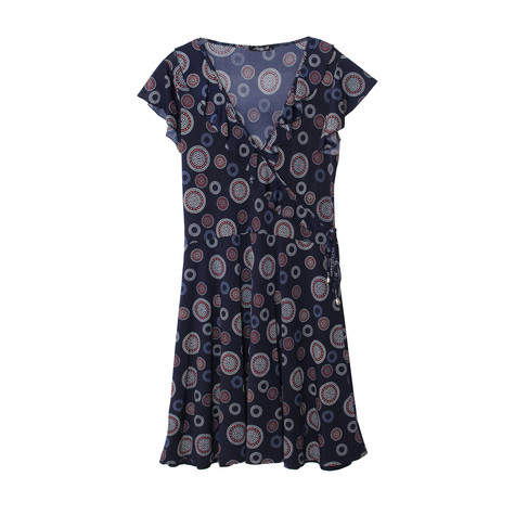 SophieB Navy Circular Pattern Print Dress