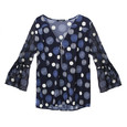 SophieB Navy Polka Dot V-Neck Top