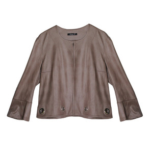 SophieB Rose Crop Round Neck Jacket
