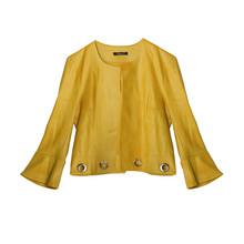 SophieB Mustard Crop Open Jacket