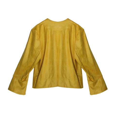 SophieB Mustard Crop Open Jacket