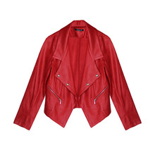 SophieB Red Crop Open Jacket
