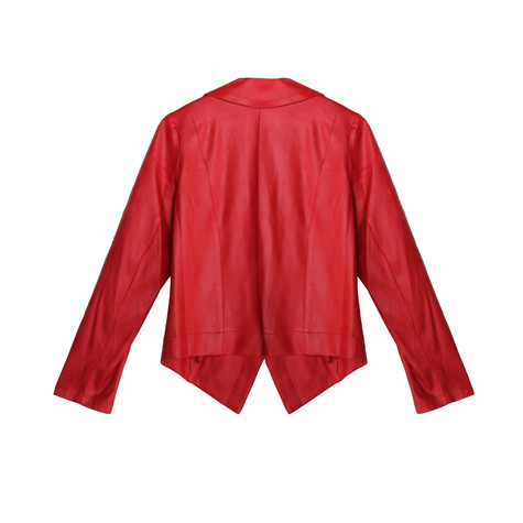 SophieB Red Crop Open Jacket