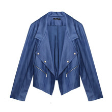SophieB Blue Open Crop Jacket