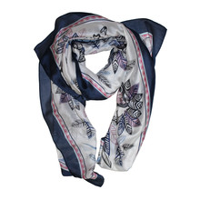 Best Angel Navy Floral Pattern Scarf