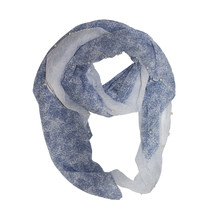 Best Angel Blue 2 Tone Scarf With Pearl Detail