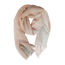 Best Angel Peach 2 Tone Pearl Detail Scarf