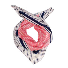 Best Angel Pink & Navy Polka Dot Scarf