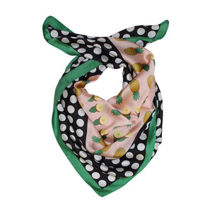 Best Angel Green & Black Pineapple Scarf