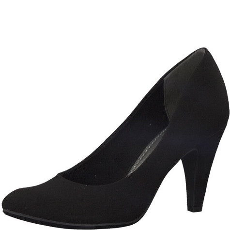 Marco Tozzi Black Suede Heel