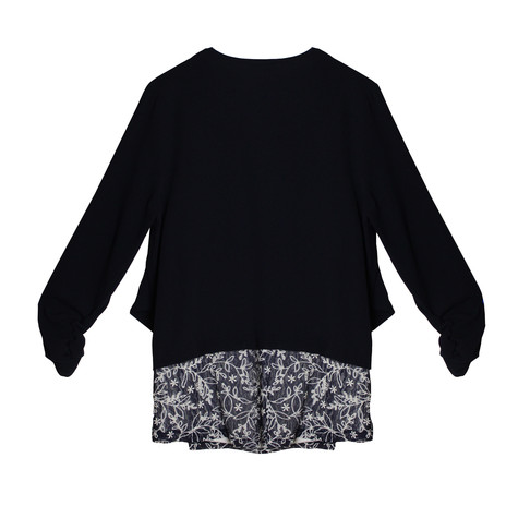 Zapara Navy 2 in 1 floral Knit Top