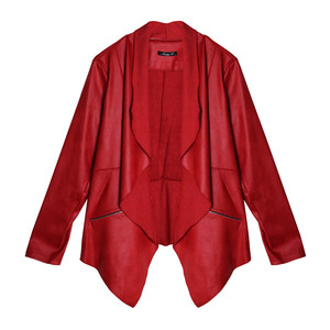 SophieB Red Open Crop Jacket
