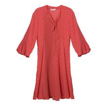 Zapara RED POLKA DOT BELL SLEEVE DRESS