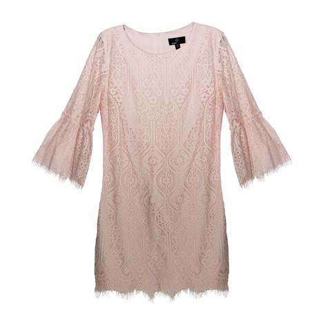 Ronni Nicole Blush Lace Dress