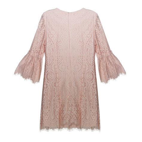 Ronni Nicole Blush Lace Dress