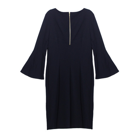 Ronni Nicole Plain Navy Round Neck Rivot Detail Dress