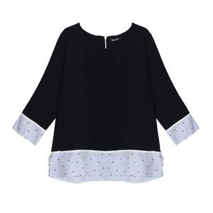 Twist Navy 2 in 1 Shirt Detail Top