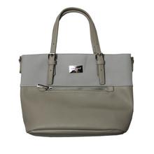 Dave Jones Grey 2 Tone Zip Detail Handbag