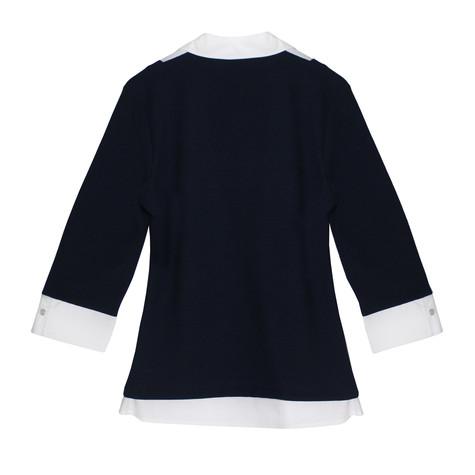 Twist Navy & White Shirt Insert  2 in 1 Knit