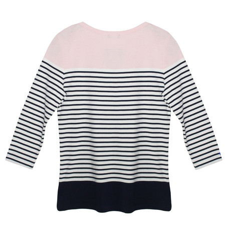 Twist Pink & Navy  Stripe Knit