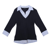Twist Navy Stripe Shirt 2 in 1 Knit