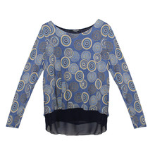 SophieB Navy Circular Pattern Design Top