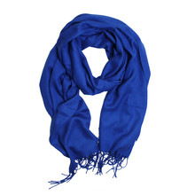 Cocana Royal Blue Pashmina Scarf
