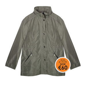 Isabella Khaki Rain Coat - WAS €179.99 NOW €60