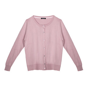 Twist Pink Button Up Light Knit