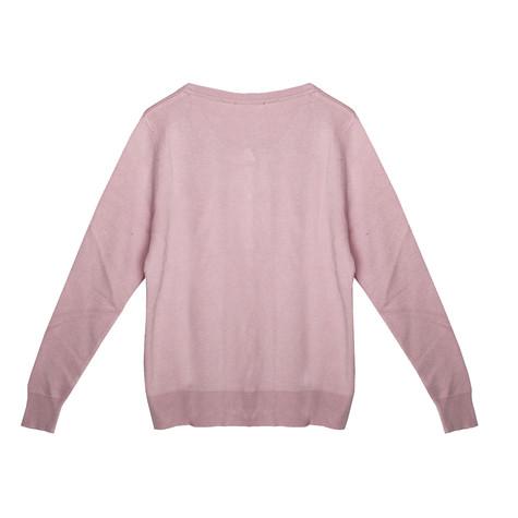 Twist Pink Button Up Light Knit