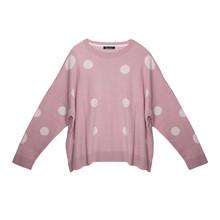Twist Light Pink Large Polka Dot Knit