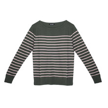 Twist Khaki & Pink Strip Long Sleeve Knit