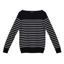 Twist Navy & White Stripe Long Sleeve Top