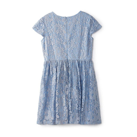 Yumi Girls Girl blue floral lace 'Babette' skater dress