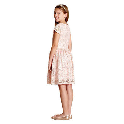 Yumi Girls Girl pink floral lace 'Babette' skater dress