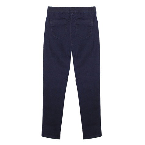 Twist Demin Style Elasticated Waist Trousers