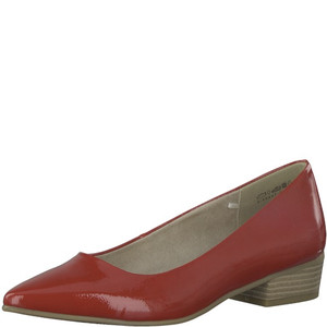 Marco Tozzi Red Patent Low Heel Court Shoe