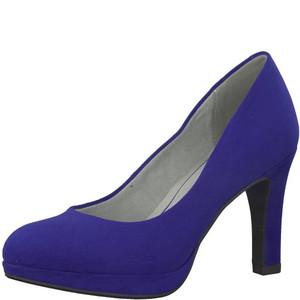 Marco Tozzi Cobalt Blue Slim Platform Court Shoe