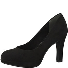 Marco Tozzi Black Slim Platform Court Shoe