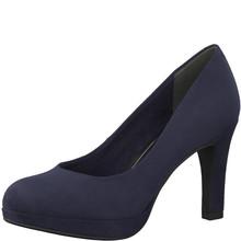 Marco Tozzi Navy Slim Platform Court Shoe