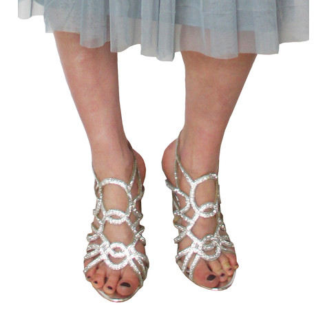 Poti Pati Diamante Detail Cage Heels