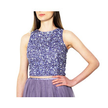 Lace & Beads Picasso Lavender Sequin Top