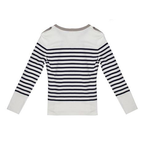 Twist Navy & Beige Stripe Top