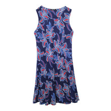 SophieB Navy & Red Leaf Print Top