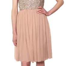 Lace & Beads Beige Val Skirt