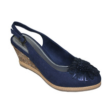 Marco Tozzi Navy Strap Wedges