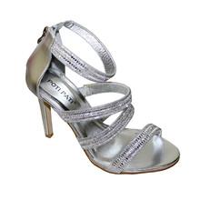 Poti Pati Diamante Detail Strap Heels