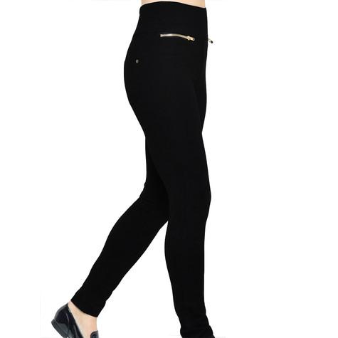 Independent C Black Wendy Zip Detail Pocket Skinny Fit Trousers